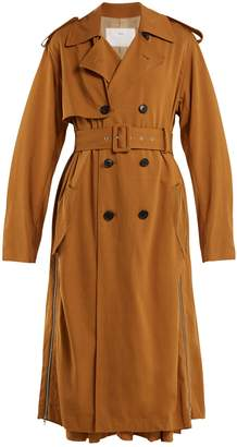 Toga Double-breasted side-zip trench coat