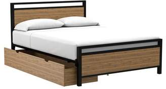Office Star OSP Designs by Products Quinton Queen Platform Bed with Under Bed Drawer