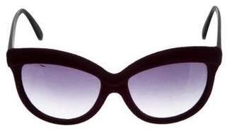Italia Independent Velvet Oversize Sunglasses