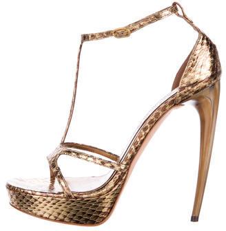 Alexander McQueenAlexander McQueen Metallic Platform Sandals