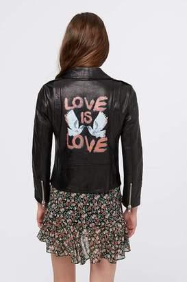 Rebecca Minkoff Wes Moto Love Doves Jacket