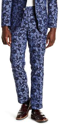 "Paisley & Gray Downing Floral Slim Fit Pants - 30-34"" Inseam"