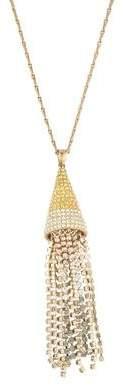 Eddie Borgo Crystal Ombré Mini Cone Tassel Necklace