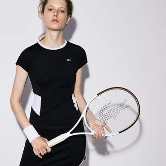 Lacoste Women's SPORT Crew Neck Stretch Jersey Tennis T-shirt