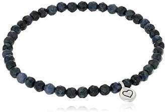 Satya Jewelry Dumortierite Heart Stretch Bracelet