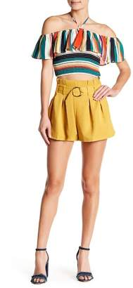 Flying Tomato Belted Box Pleated Shorts