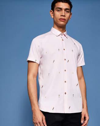 Ted Baker PARCOOP Parrot filcoupe cotton shirt
