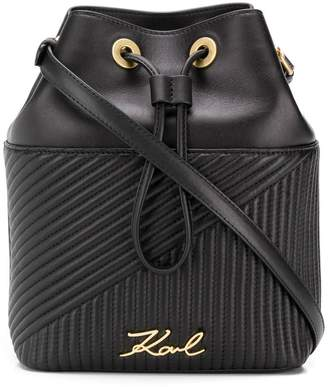Karl Lagerfeld K/Signature quilted bucket bag