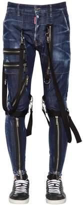 DSQUARED2 15cm Military Cotton Denim Jeans