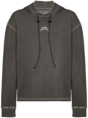 A-Cold-Wall* grey logo print cotton hoodie