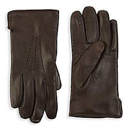 Saks Fifth Avenue Leather Touch Tech Gloves