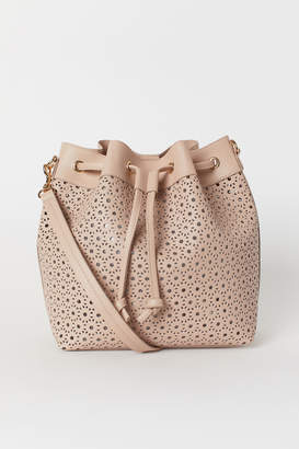 H&M Hole-patterned bucket bag