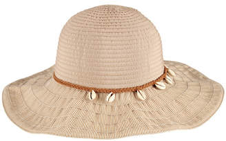 San Diego Hat Company Women's Ribbon With Shell Trim Hat