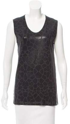Just Cavalli Sleeveless Scoop Neck Top