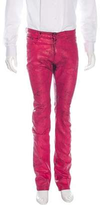 Maison Margiela Distressed Painted Jeans