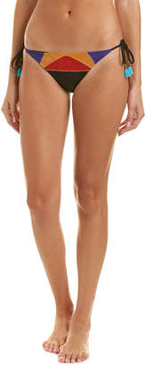 Nanette Lepore Serengeti Faux Suede Vamp String Bikini Bottom