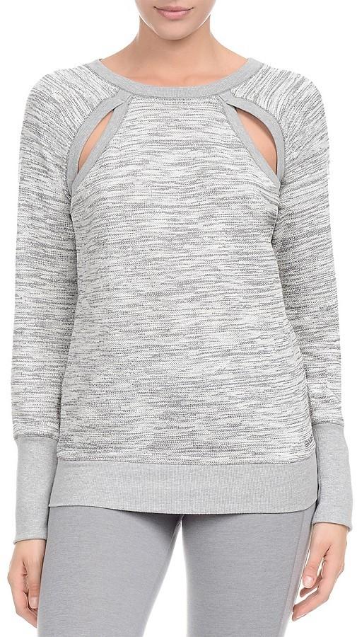 2(X)IST Cutout Long Sleeve Sweatshirt