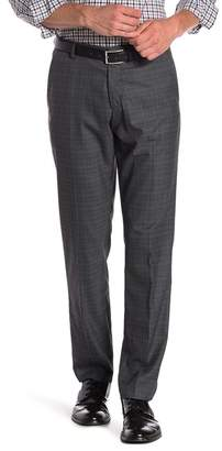 "Perry Ellis Plaid Print Stretch Slim Fit Pants - 32"" Inseam"