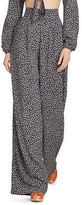 Ralph Lauren Denim & Supply Floral Wide-Leg Pant $98 thestylecure.com