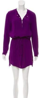 Diane von Furstenberg Sliced Long Sleeve Dress