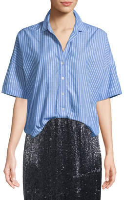 Joie Selsie Short-Sleeve Button-Down Top