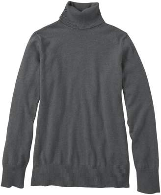 L.L. Bean L.L.Bean Cotton/Cashmere Sweater, Turtleneck