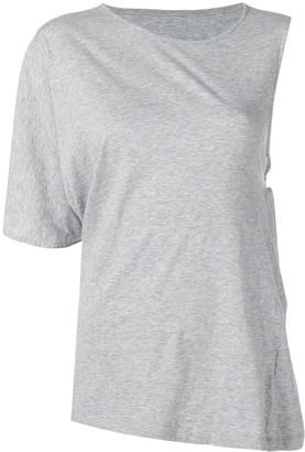 MM6 MAISON MARGIELA asymmetric T-shirt