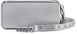 Rebecca Minkoff Mirrored Folio Phone Case for iPhone 7/8, Metallic Silver