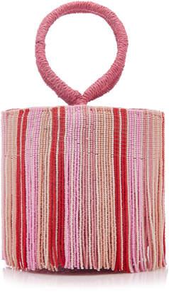 Sensi Studio Beaded Straw Mini Bag