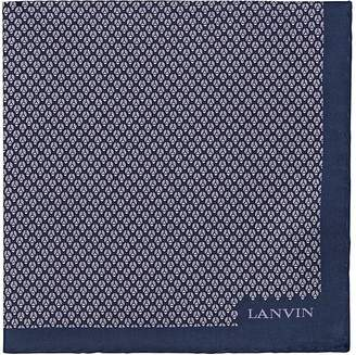 Lanvin Men's Geometric-Bug-Print Silk Pocket Square