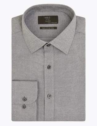 Marks and Spencer Pure Cotton Twill Tailored Fit Shirt