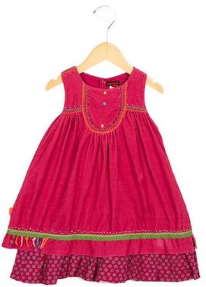 Cacharel Girls' Corduroy Embroidered Dress $45 thestylecure.com