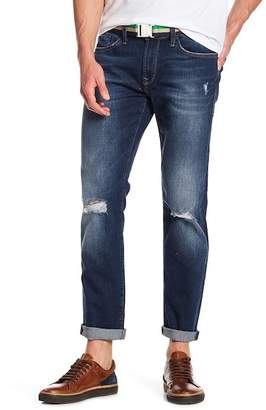 Mavi Jeans Marcus Deep Rip Used Authentic Vint Slim Straight Leg Jeans