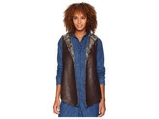 True Grit Dylan by Sueded Fur Reversible Hood Vest