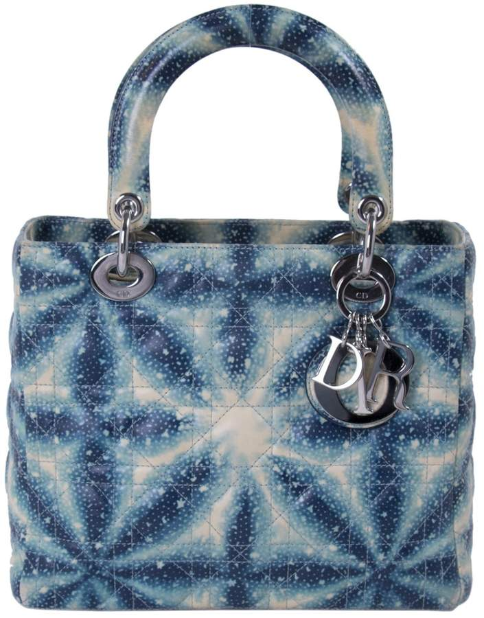 505958352a55 Christian Dior Lady Blue Leather Handbag - ShopStyle Bags