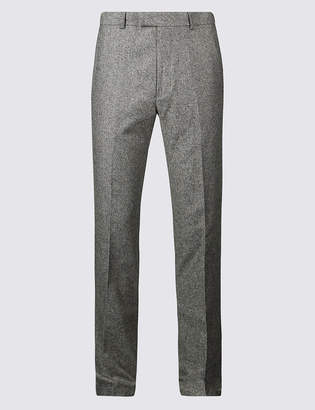 Marks and Spencer Big & Tall Textured Slim Fit Trousers