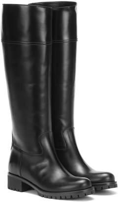 Prada Knee-high leather boots