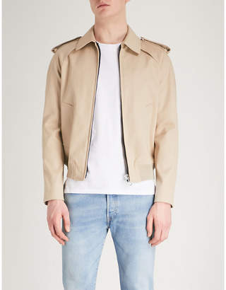 Sandro Cropped cotton-twill trench coat
