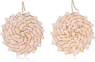Kenneth Cole New York Womens and Neutral Woven Drop Earrings