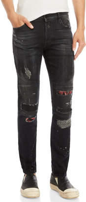 Marcelo Burlon County of Milan Ain Biker Slim Fit Jeans