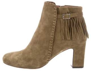 Tabitha Simmons Suede Fringe Ankle Boots
