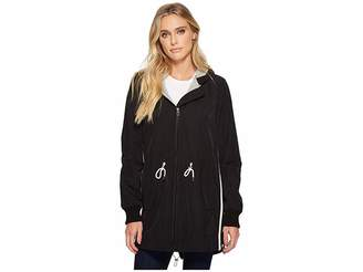 Vince Camuto Hooded Parka with Drawstring Waist Women's Coat