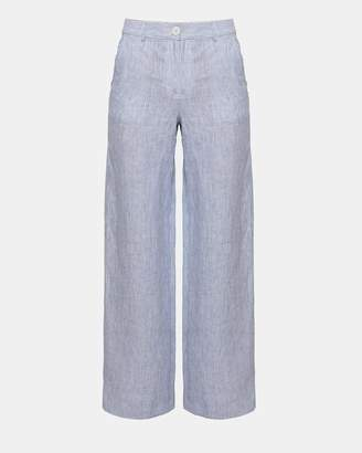 Theory Linen Stripe Carpenter Pant