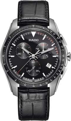 Rado HyperChrome Chronograph Leather Strap Watch, 45mm