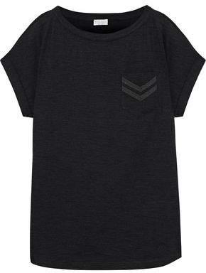 Brunello Cucinelli Bead-Embellished Stretch-Wool Jersey T-Shirt