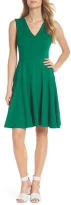 Eliza J Ponte Fit & Flare Dress