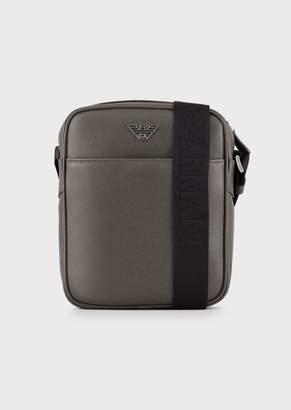 Emporio Armani Cross Body Bag In Boarded Printed Leather