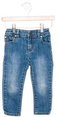 Stella McCartney Kids' Five Pocket Zip-Accented Jeans
