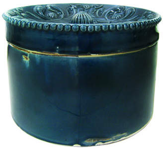 Florid Ceramic Canister in Midnight