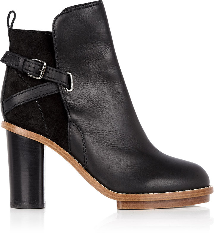 Acne Black Cypress Ankle Boots